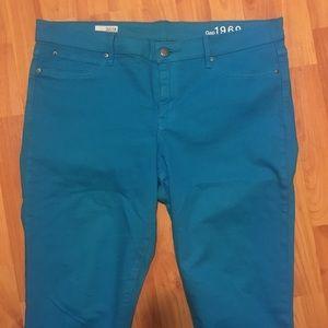 GAP 1969 Bright Blue Legging Jeans 14